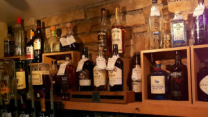 Drinks on display at Harrisons Bar, Cliffoney, Co Sligo.