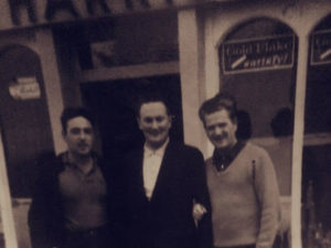 Old Harrisons Bar with owner
