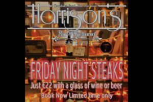 Harrisons bar offering friday night steaks for €22